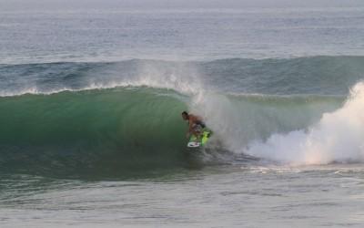 Josh Mulcoy tubed in Salina Cruz, La Escondida, Las Palmeras Surf Camp