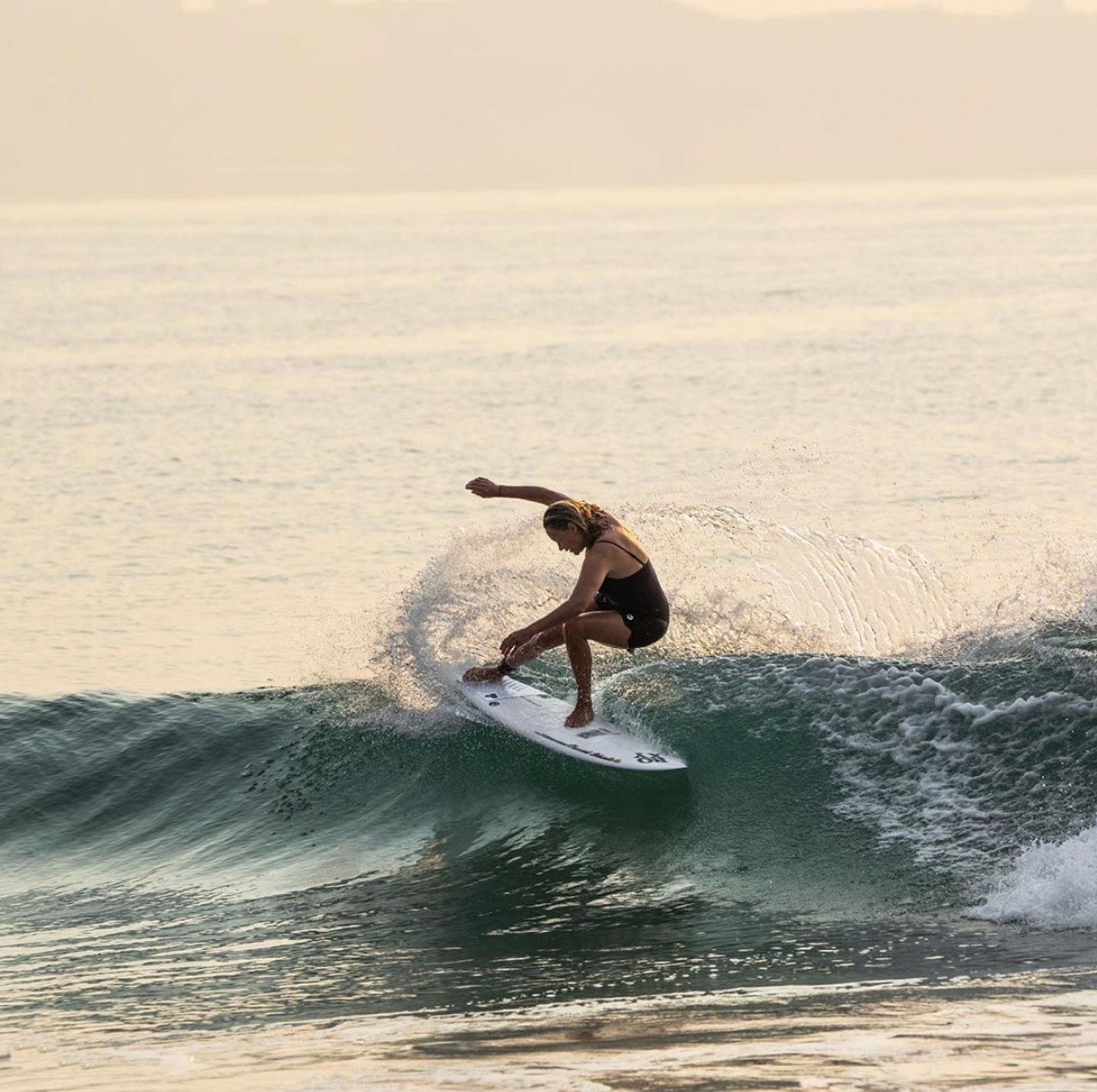 Lisa Anderson in Salina Cruz, Oaxaca, Mexico, Las Palmeras Surf Camp